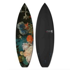 Flowers 1 Surfboard by Boom-art