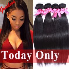 7A Unprocessed Indian Virgin Hair Straight 4Bundles/Lot Rosa Hair Products Raw Indian Straight Hair Weave Human Hair Extension -- Check out this great product.