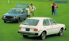 1979 Mazda GLC.  We had a bright yellow GLC Sport when first married
