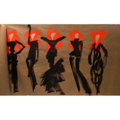 Grace Donald Robertson $3200.00 acrylic paint and gaffer tape on paper  38 inches w x 24 inches h  year 2014  unframed original ships in July, 2014   note: size approximate  *This item is Final Sale/No Returns