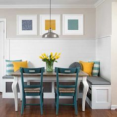 We love this breakfast nook created by bloggers Sada and Reagan Lewis, who tackle renovation projects in their 1960s San Antonio ranch and share them at sadalewis.com.