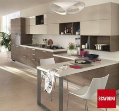 Sax kitchen design by Vuesse. has some nice stuff. This image, mostly for cupboards with no fixtures Kitchen Cabinet Design, Scavolini Kitchens, Home Decor Kitchen, Kitchen Decor, Contemporary Kitchen, Modern Kitchen, Minimalist Kitchen, Lake House Kitchen, Rustic Kitchen Cabinets