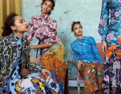 Selena Forrest, Imaan Hammam, Ellen Rosa & Luisana Gonzalez photographed by Josh Olins for Vogue US May 2017  Stylist: Alex Harrington  Hair: Esther Langham  Makeup: Yumi Lee #inspiration #blog #blogger #tumblr #fashion #style #models #photography #vogue http://www.midnight-charm.com/