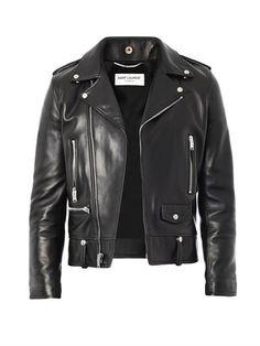 SAINT LAURENT Leather biker jacket (163014)