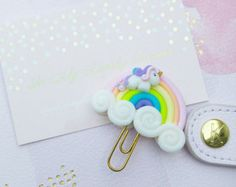 trombone Unicorn maned Rainbow in dough polymer  rainbow