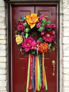 Fiesta Wreath! Colorful and bright!