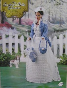 Image detail for -Annie's Attic Crochet Bed Doll Pattern Southern Belle Flower Show