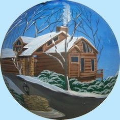 Hand_Painted_Christmas_Ornaments_House_Portraits Painted Christmas Ornaments, Personalized Christmas Ornaments, Decorative Bowls, Portraits, Hand Painted, House, Painting, Home Decor, Custom Christmas Ornaments