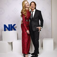 Pin for Later: The Stars Had a Party Inside Louis Vuitton's Monogrammed World First, She and Keith Urban Were Caught Giggling in the Portrait Studio