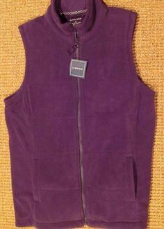 905f817ad8f9b Lands  end women s fleece vest zippered s small 6 - 8 purple new