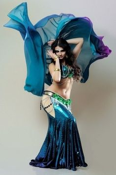 bellydance with veils. Love those colors.
