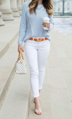 10 Best Spring Outfit Ideas For Work - Casual Work Outfits Preppy Summer Outfits, Classy Work Outfits, Business Casual Outfits, Casual Fall Outfits, Work Casual, Trendy Outfits, Winter Outfits, Look Casual Chic, Smart Casual