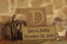 monogram wedding date, great wedding gift idea.