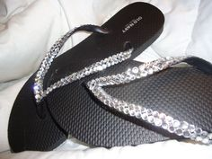 1f873dfed21a Crystal Covered Wedding Flip Flops-Clear Crystals by DEEVADZIGN on Etsy  https
