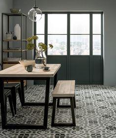 Information about Thornbury™ Tile Hall Tiles, Tiled Hallway, Loft Ensuite, Patchwork Tiles, Topps Tiles, Victorian Tiles, Traditional Tile, Big Design, Floral Design