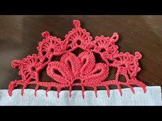 Crochet Border Patterns, Crochet Boarders, Crochet Baby, Knit Crochet, Basic Embroidery Stitches, Irish Lace, Crochet Videos, Fashion Sewing, Diy And Crafts