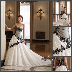 Love the black and white and lace!!