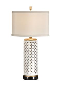 Pierced Clubs Porcelain Table Lamp, Wildwood Lamps - 46646