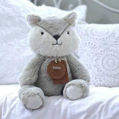 How cute and cuddly is this little fox. Perfect first toy for a lifetime of snuggles and soft hugs! Each character comes with their own personality too. ross fox is a carpenter by trade and he likes camp fires and coffee. Boho Nursery, Baby Nursery Decor, Embroidered Name Patches, Sibling Gifts, Fox Toys, Baby Hamper, Personalized Baby Gifts, Boho Baby, Beautiful Babies
