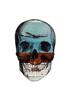 "Saatchi Online Artist: tyrone dalby; Paper, 2012, Assemblage / Collage ""Airhead"""