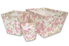 Paisley PINK Fabric Storage Bins Keep your nursery neat, organized and fashionable with this storage bin set by Trend Lab.