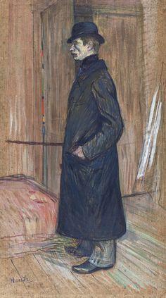 Henri De Toulouse-Lautrec ( Oil on cardboard, 71 x 37 cm, Museo Thyssen-Bornemisza, Madrid ).