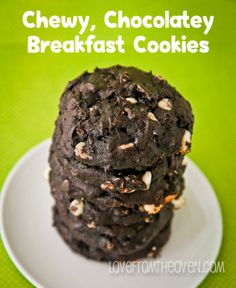 Chewy Chocolate Breakfast Cookies.  One of the most popular recipes on Love From The Oven in 2013.