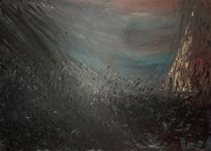 Naufrage  Acrylique sur toile  70x50 cm janvier 2015