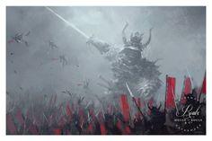 """Evil Shogun"" by Jakub 'Mr. Werewolf' Rozalski - Fine Art Print"