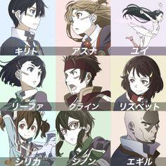 Kirito, Asuna, Yui, Leafa, Klein, Lisbeth, Silica, Klein Sinon & Argil ~ Ordinal Scale