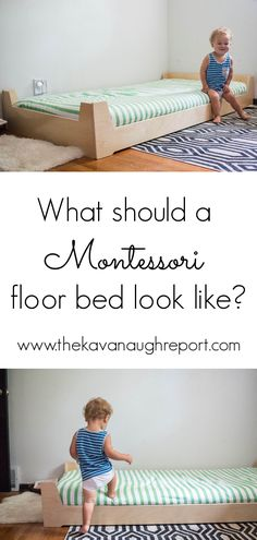 Here are some practical things to keep in mind when considering what your Montes. Here are some practical things to keep in mind when considering what your Montessori floor bed should look like Montessori Baby, Montessori Toddler Bedroom, Toddler Rooms, Toddler Floor Bed, Baby Floor Bed, Infant Activities, Kid Beds, Kids Room, Queen Bedding