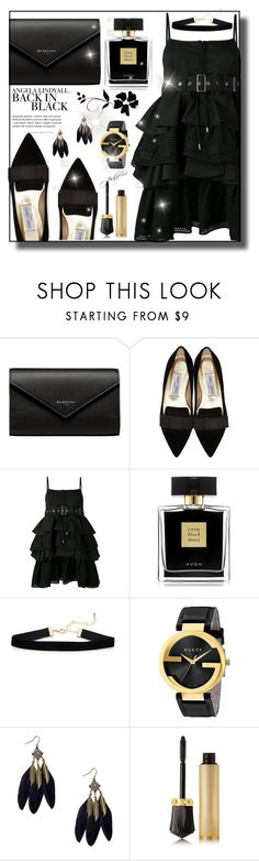 """Jet"" by paperdolldesigner ❤ liked on Polyvore featuring Balenciaga, Jimmy Choo, Diesel Black Gold, Avon, Gucci, Christian Louboutin and H&M"