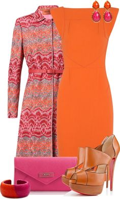 """Pink and Orange Contest #1"" by lifebeautiful on Polyvore"