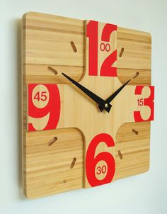 Addison bamboo wall clock