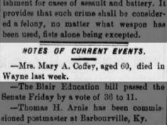 Mary A Coffey