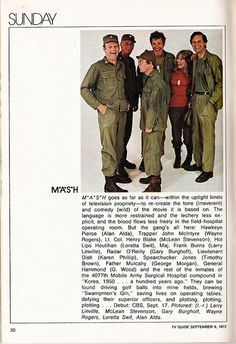 M*A*S*H from TV Guide (1972) | Flickr - Photo Sharing!
