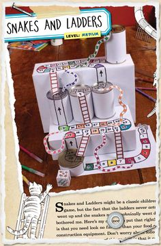 Sneak peek 35: 3D snakes and ladders - finally, ladders and snakes that actually go up and down!