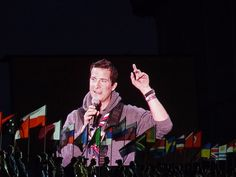 Chief scout Bear Grylls at World Scout Jamboree, Sweeden