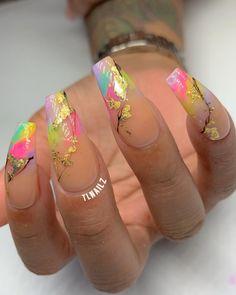 Art Nails – My hair and beauty Sexy Nails, Dope Nails, Fun Nails, Cute Nail Designs, Acrylic Nail Designs, Gorgeous Nails, Pretty Nails, Facebook E Instagram, Unicorn Nails