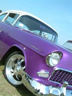 Now that's a ride! #purple #car Purple Love, All Things Purple, Shades Of Purple, Purple Cars, Purple Stuff, Teal, Cars Vintage, Antique Cars, Vintage Sport