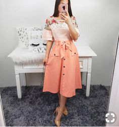 Modest Dresses, Modest Outfits, Skirt Outfits, Modest Fashion, Cute Dresses, Casual Dresses, Casual Outfits, Fashion Dresses, Cute Outfits