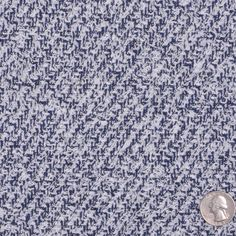 Navy/White Solid Boucle