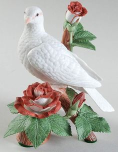 Christmas Birds Dove-Red Roses - No Box by Lenox | Replacements, Ltd.