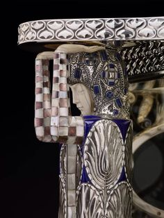 Silver vitrine (detail) designed by Carl Otto Czeschka Originally owned by the Wittgenstein family of Vienna ~ Wiener Werkstätte Art Nouveau, Lapis Lazuli, Muebles Art Deco, Dallas Museums, Vienna Secession, Principles Of Design, Ancient Jewelry, Maker, Arts And Crafts Movement