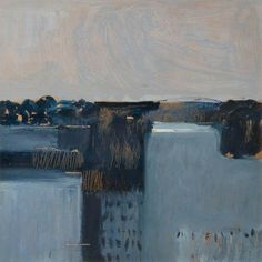 Colin Middleton (Irish, 1910-1983), Crevinishaughey, Grey Morning, Co. Archdale. Oil on board, 29 x 29 cm.