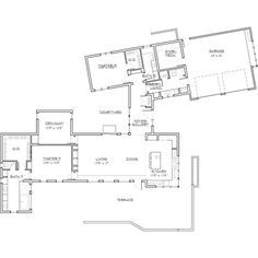 Modern Style House Plan - 2 Beds 2.00 Baths 2331 Sq/Ft Plan #892-8 Floor Plan - Main Floor Plan - Houseplans.com