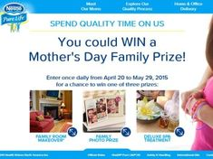 Nestlé Pure Life Purified Water Mother's Day Sweepstakes