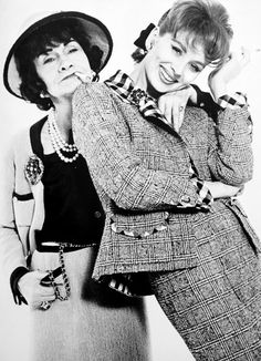 Coco Chanel and Suzy Parker  Photo by Richard Avedon  1962