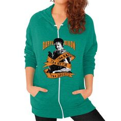 Dary the man the myth the legend Zip Hoodie (on woman)