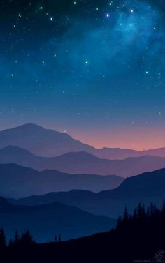 Mountain Wallpaper Galaxy Tranquil Beauty Nature Peaceful